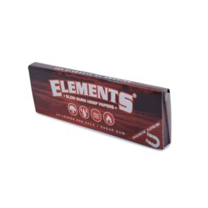 Elements Red Slow-Burn Hemp Rolling Papers - 1 1/4""