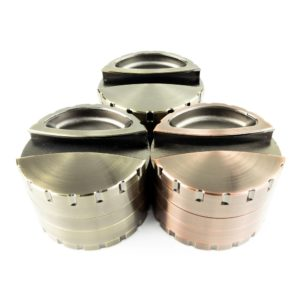 Large 4-Piece Grinder with Paper Holder and Ashtray - 80mm