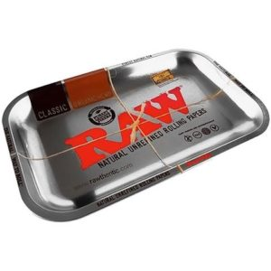 RAW Rolling Tray - Polished Chrome Metal