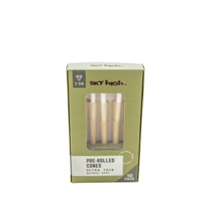 "Sky High Natural Hemp Pre-Rolled Cones - 1 1/4"" (10 Pack)"