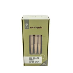 "Sky High Natural Hemp Pre-Rolled Cones - 1 1/4"" (60 Pack)"