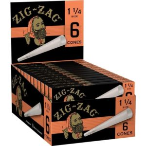 "Zig-Zag Pre-Rolled Cones - 1 1/4"" (6 Pack)"